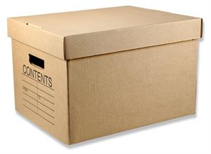 Office Kraft File Box With Lid